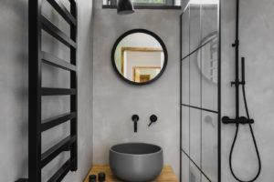 Koupelna s černou