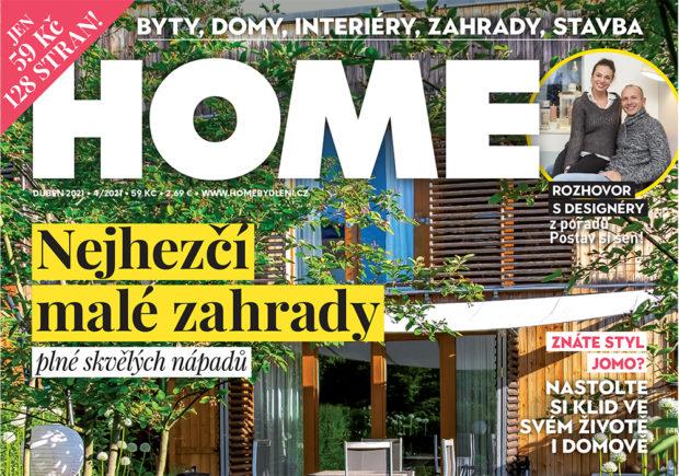 Dubnové vydání časopisu HOME je již v prodeji!