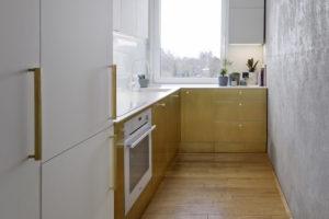 Kuchyň v úzkém prostoru