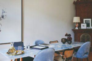 Mramorový stůl pracovna