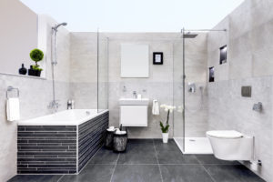 Koupelna v bílé