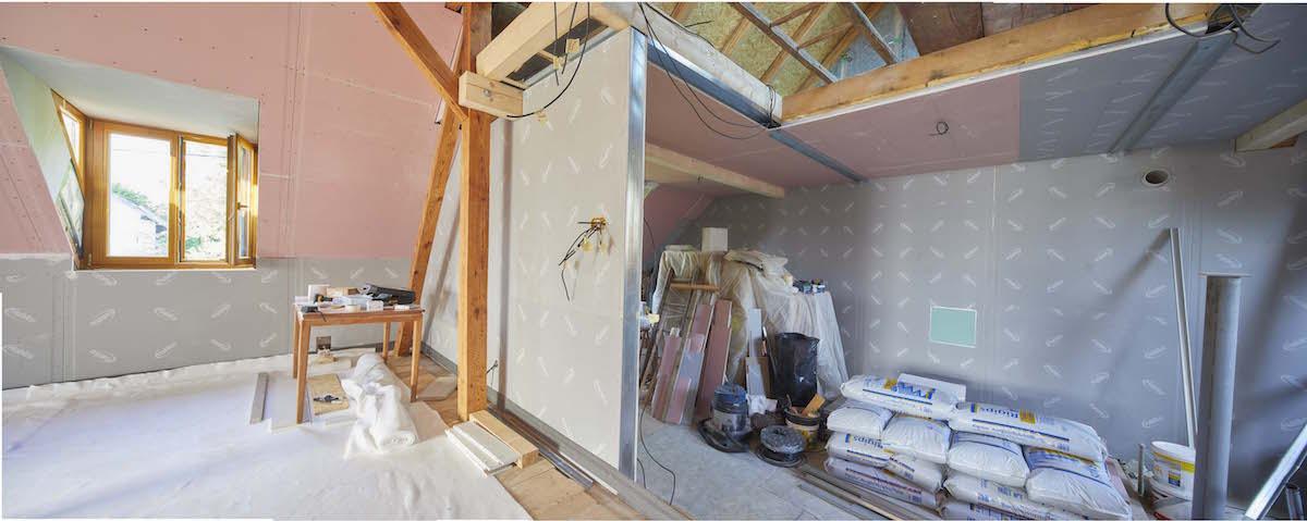rekonstrukce podkroví sádrokartonem