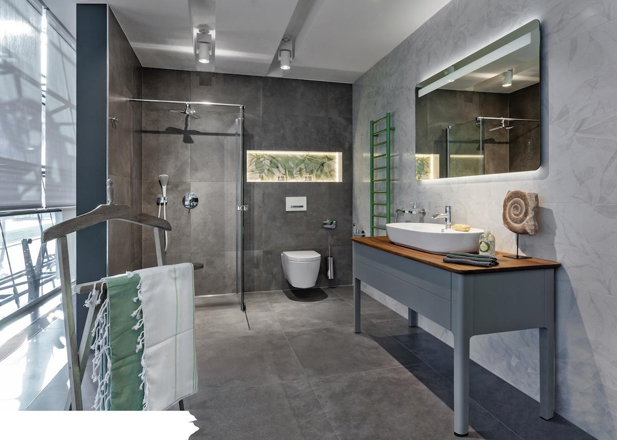 Urbanistický styl koupelny