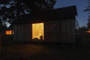 Chalupa v noci
