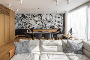 Obývací část a jídelna