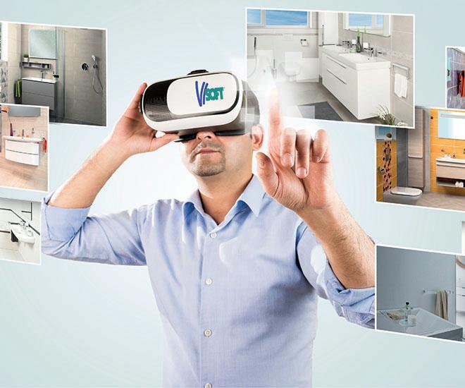 3D koupelna vizualizace