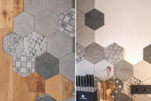 Detail hexagonu v bytě