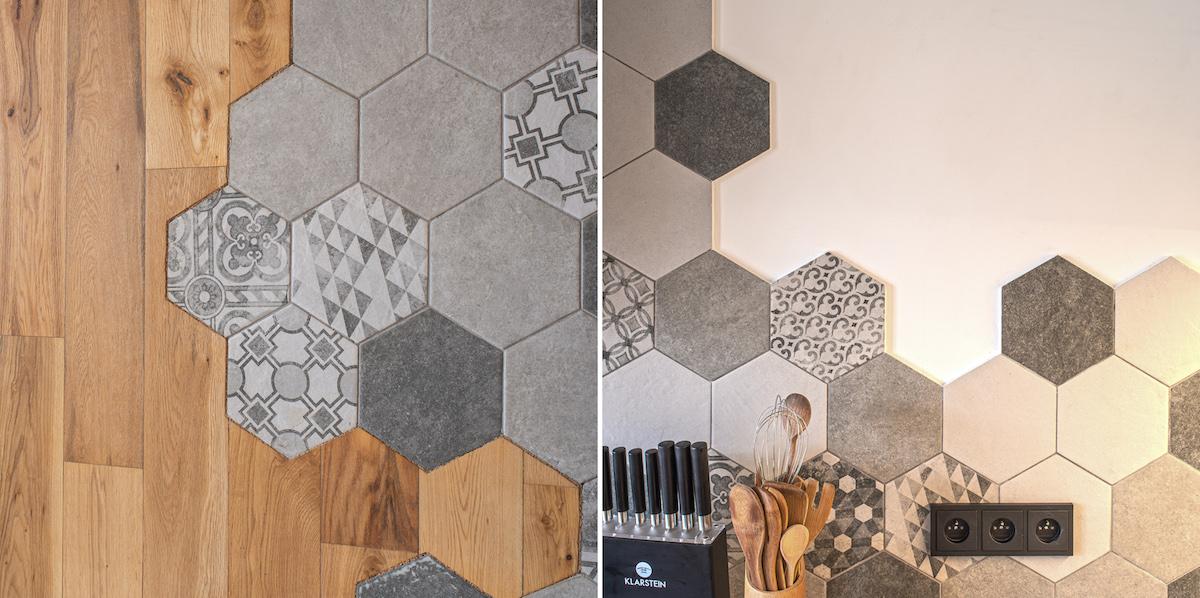 Hexagonové dlaždice v bytě