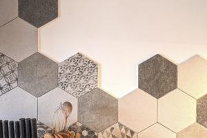 Detail hexagon kuchynská linka