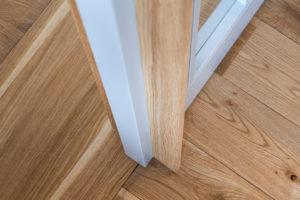 Detail drevěné podlahy