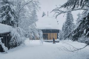 Víkendový dům v zimě