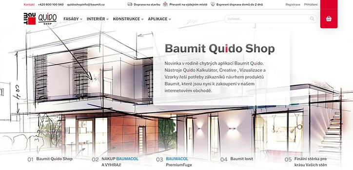Baumit Quido Shop – unikátní průvodce pro on-line nákup