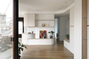 Dřevěná stuha úložné prostory