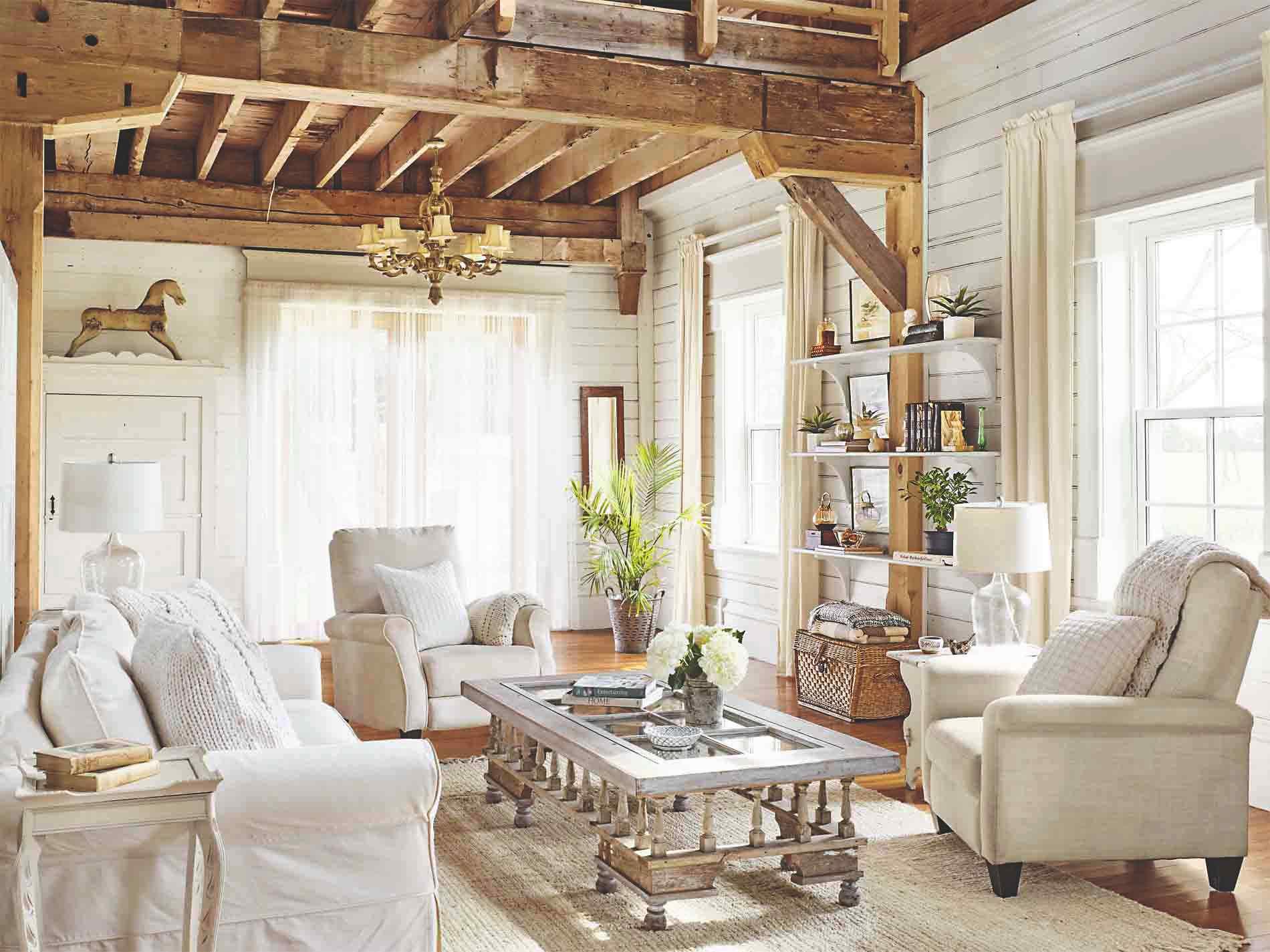 Provensalský obývací pokoj