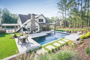 Bazén rodinný dům