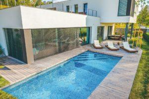 Bazén moderní terasa