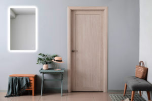 Hranaté podsvícené zrcadlo předsíň