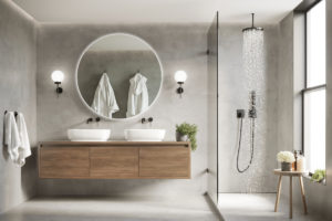 3D kulaté zrcadlo koupelna