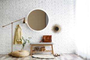 Kulaté zrcadlo předsíň