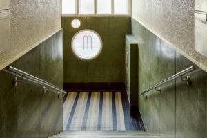 Funkcionalistický dům vchod