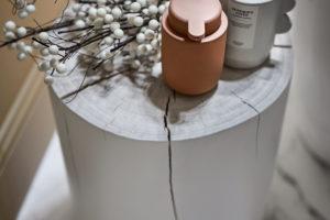 Drevěná dekorace svíčky