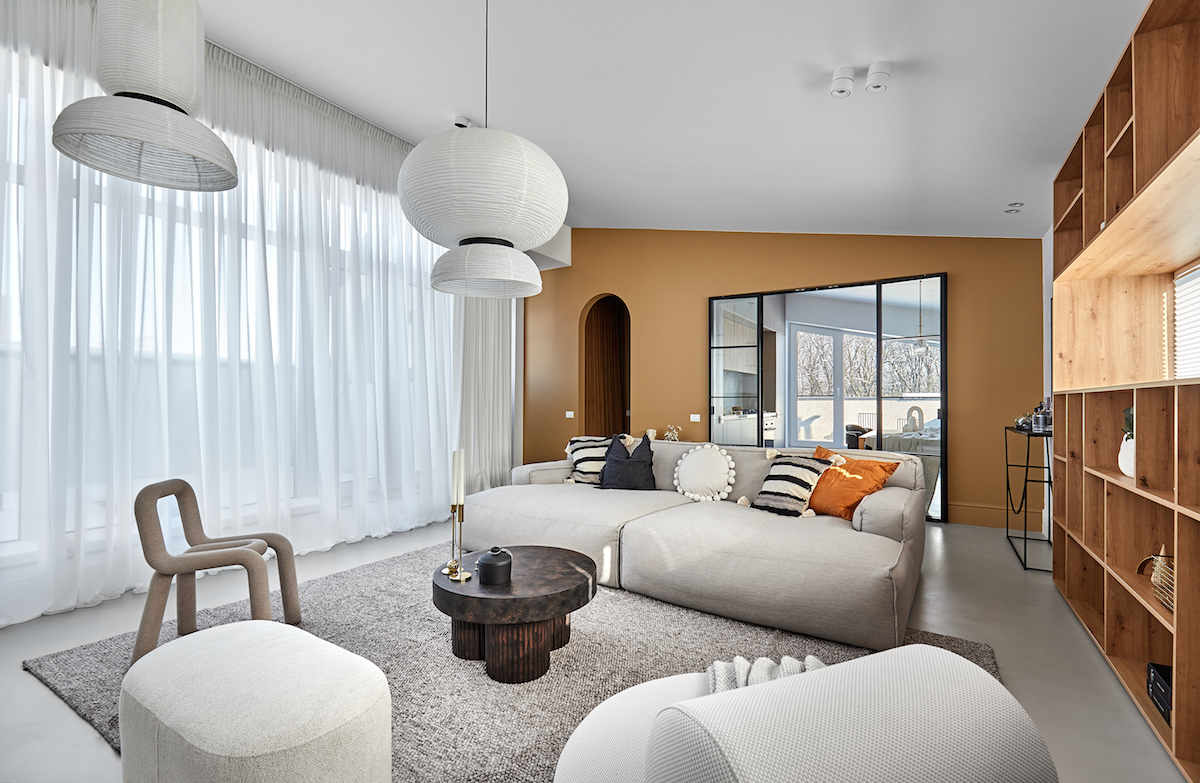 Obývací pokoj útulný
