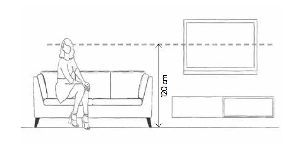 Schéma televize umístnění