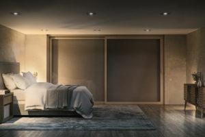 Zatíňovací rolety ložnice