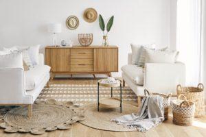 Obývac pokoj v přírodním stylu