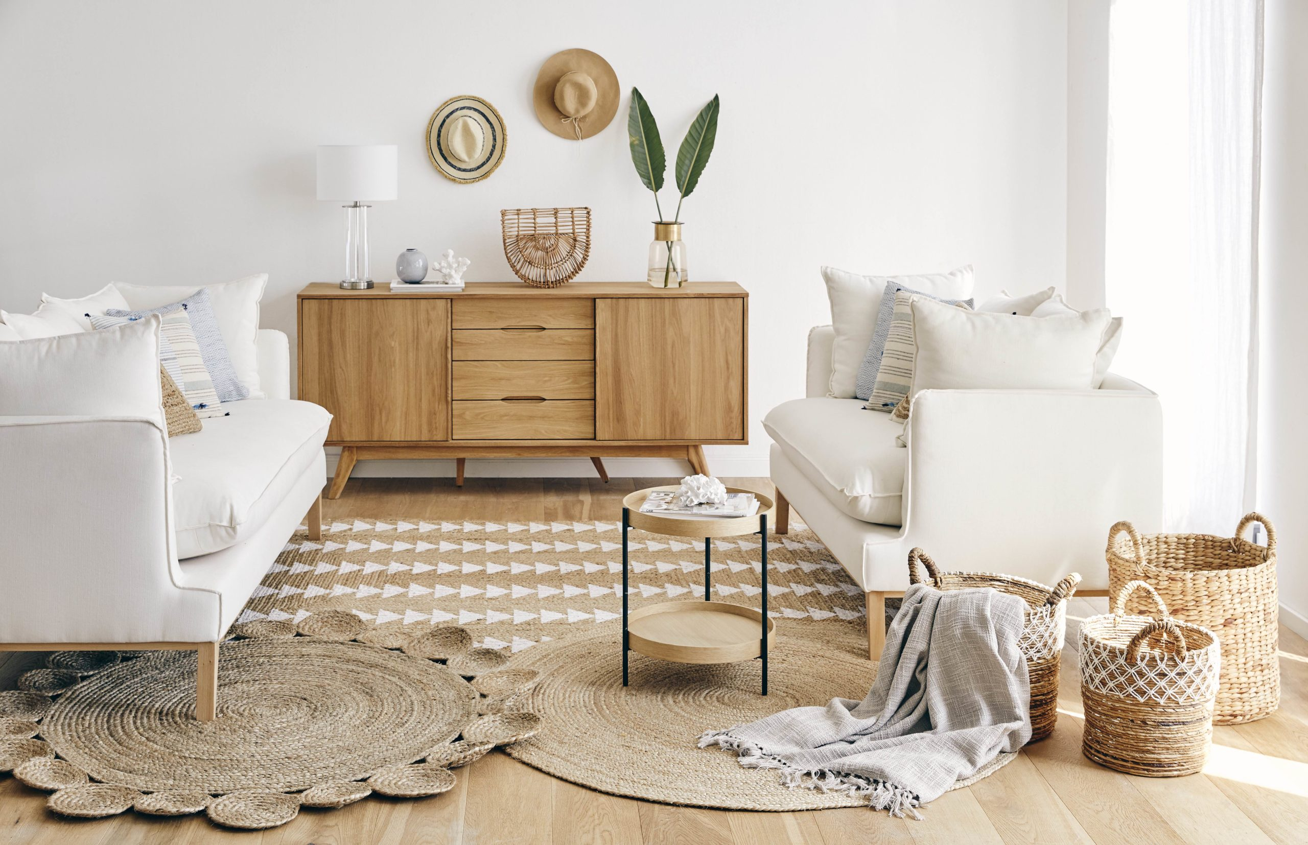Obývací pokoj v přírodním stylu