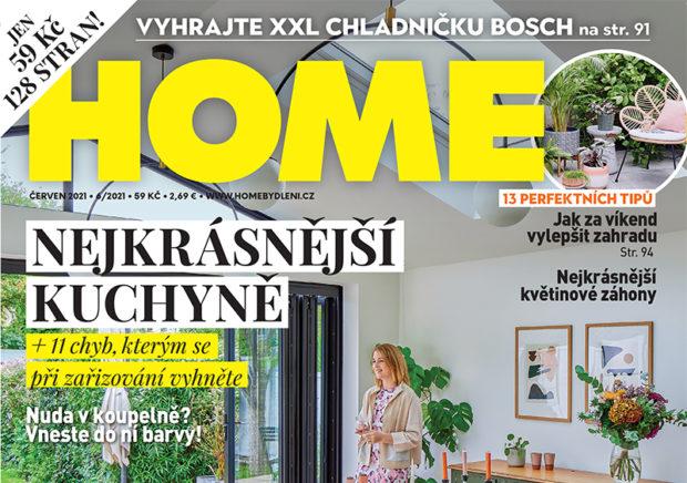Červnové vydání časopisu HOME právě v prodeji. Teď s dárkem!