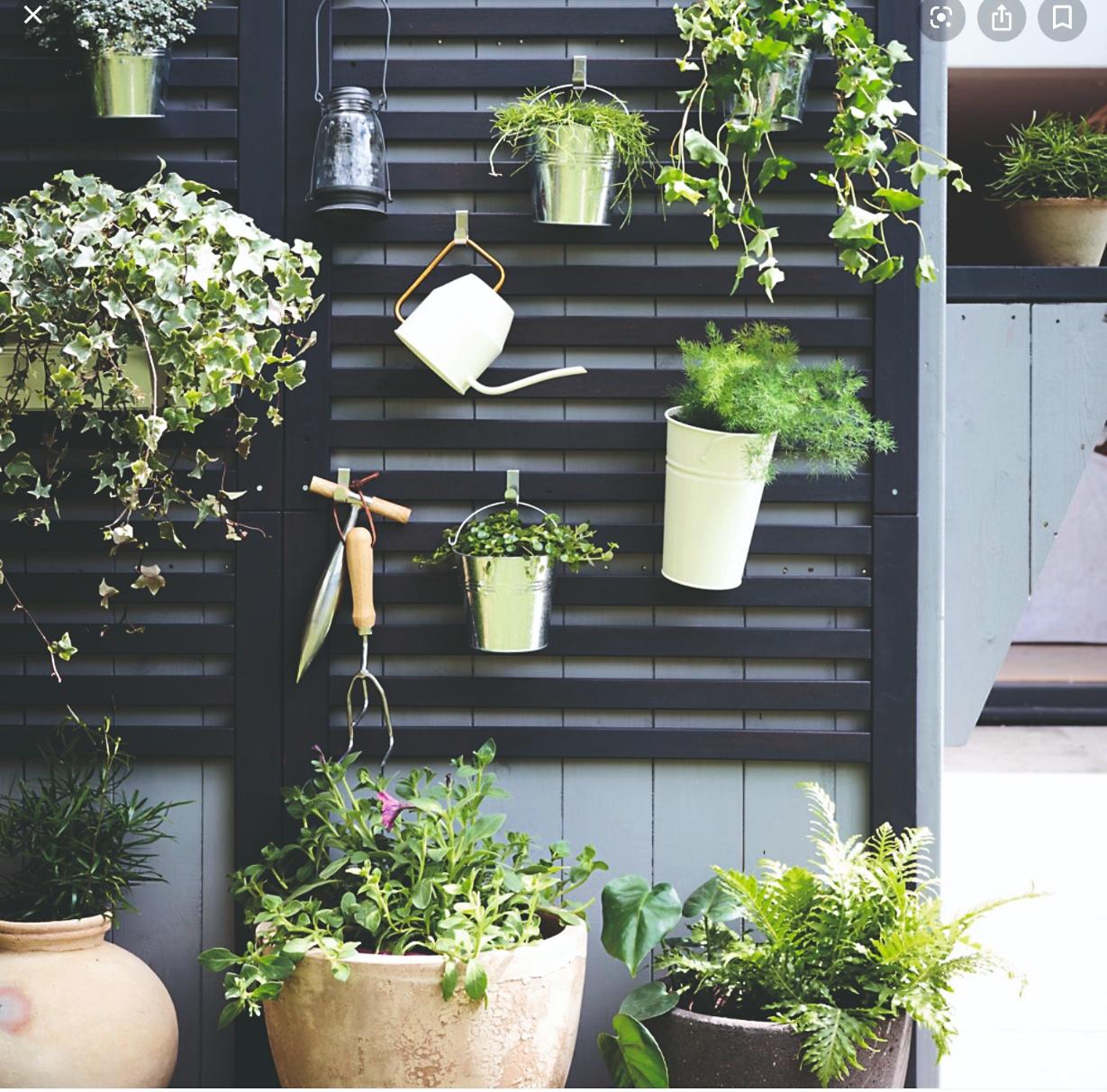 Stěna s kvetináči
