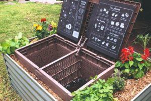 Kompostér v záhradě