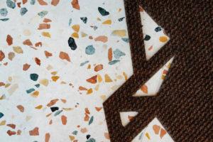 Detail podlahy z terazza