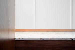 Schody a terazzo podlaha