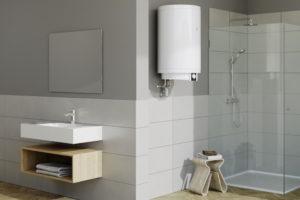 Zasobnikový ohřívač vody v koupelně
