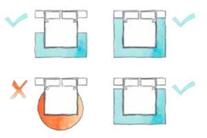 Schéma tvaru a uložení kusového koberce