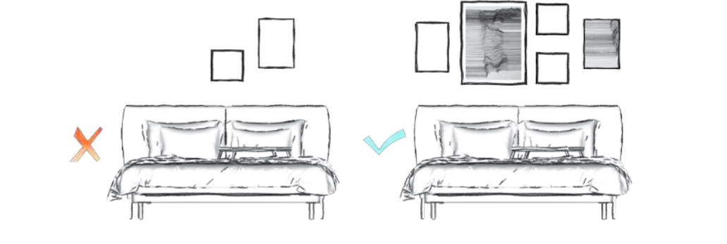 Schéma čela postele