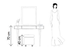 Schema kosmetický stolek