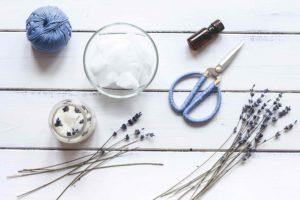 výroba levandulových svíček materiál