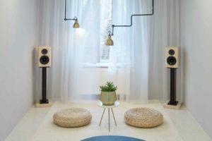 Soundsystem v obývacím pokoji