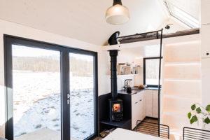 Mobilní domek s kuchyní a spací částí