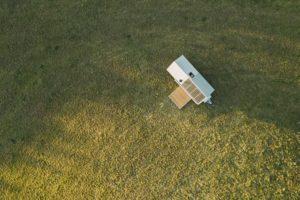 Mobilní dům na kolech pohled zvrchu