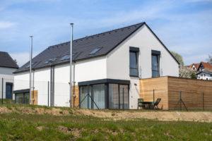 Rodinné domy s prosklenými fasádami
