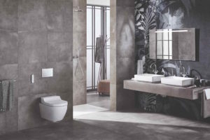 Sprchovací wc v moderné koupelně