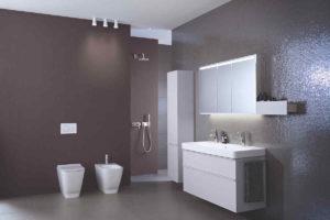 Bidet a wc v moderní koupelně