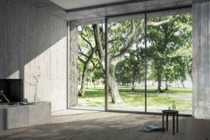 Velké okna v moderním domě