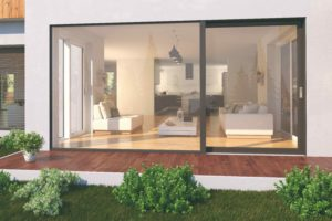 Velké prosklenné plochy na domÉ