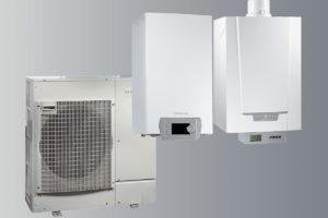 Hybridní tepelné čerpadlo v technické místnosti