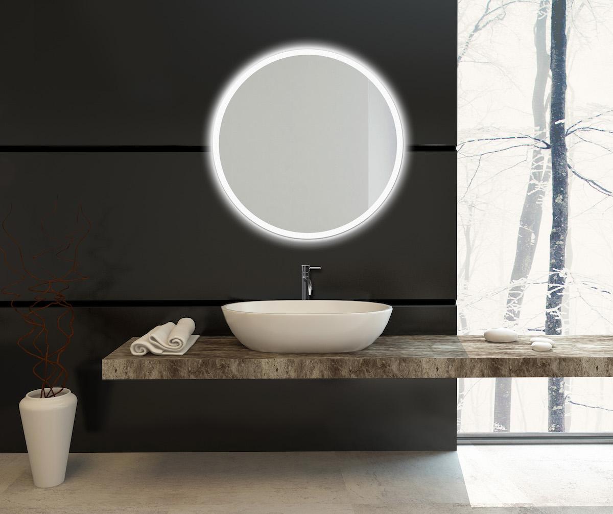 Modern,Bathroom,Decor,On,A,Black,Wall,With,A,Wall-mounted